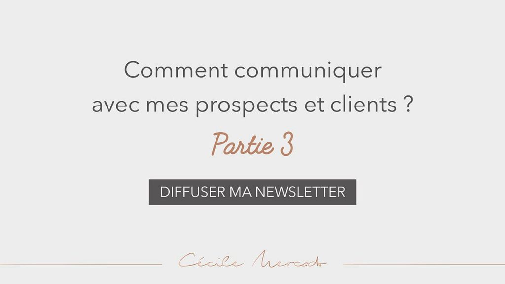 Diffuser ma newsletter